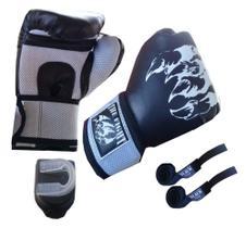 Luva Muay Thai The Fight+bandagem 14 0z
