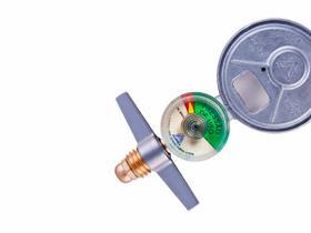 Medidor De Gás Manômetro Registro Regulador Cozinha Alianca