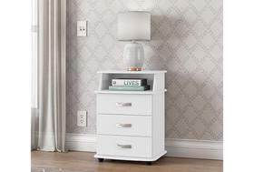Mesa de cabeceira luxo branca