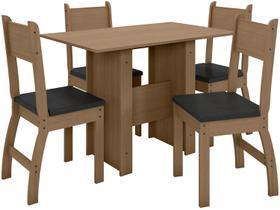 Mesa de Cozinha 4 Cadeiras Retangular Milano