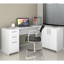 Mesa para Computador de Canto 2 gavetas Office Notável Móveis