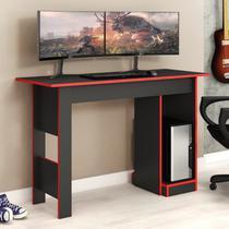 Mesa para Computador Gamer 117cm Suporte CPU Fellicci Grafite/Vermelho