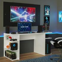 Mesa para Computador Gamer e Painel até 58 Madesa - Branco/Preto