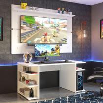 Mesa para Computador Gamer e Painel TV Madesa - Branco