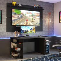 Mesa para Computador Gamer e Painel TV Madesa - Preto