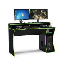 Mesa para Computador Gamer Fremont 1,30m para 2 monitores 180693 Politorno