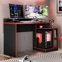 Mesa para Computador / Gamer Play Preto Fosco / Vermelho