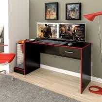 Mesa Para computador Gamer Profissional Preto Vermelho