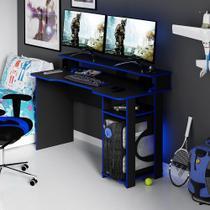 Mesa para Computador Gamer Tecnomobili Preto/Azul ME4153