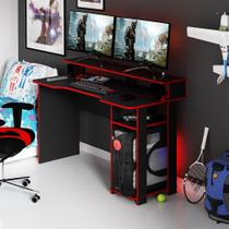 Mesa para Computador Gamer Tecnomobili Preto/Vermelho ME4153