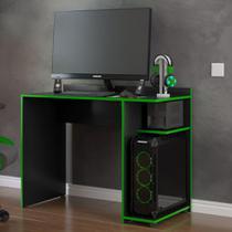 Mesa para computador Gamer XP - Preto com Verde - RPM Móveis