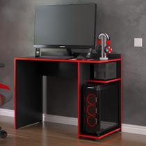 Mesa para computador Gamer XP  - Preto com Vermelho - RPM Móveis