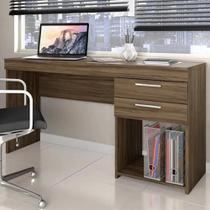 Mesa Para Computador Office 2 Gavetas - Nogal Trend - Notável
