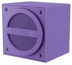 Mini alto-falante portátil ihome ibt16ue roxo com bluetooth, saída auxiliar