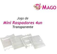 Mini Raspador Mago Transparente 4un