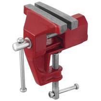 Mini Torno De Bancada Fixo 60mm Worker Vermelho