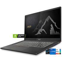 MSI Summit E14 (Ultrabook) Intel 11ª geração i7-1185G7 tela 14' UHD 4K Nvidia GTX 1650Ti Max-Q SSD 512Gb RAM 16Gb