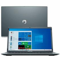 "Notebook Positivo Motion Q4128C Intel Atom Quad-Core Windows 10 Home 14"" - Cinza - Inclui Microsoft 365"