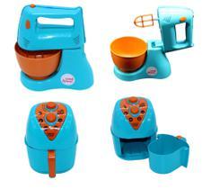 Novo Kit Cozinha Air Fryer + Batedeira Brinquedo Infantil Altimar