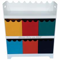 Organizador de Brinquedos 6 Caixas Onduladas Colorido
