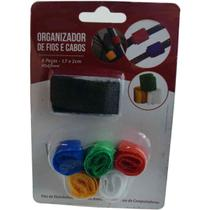 Organizador de cabos e fios - Fitas coloridas duplas aderentes para prender e organizar cabos e acessórios
