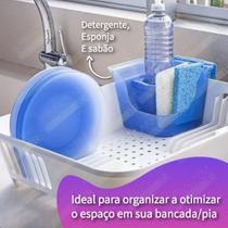 Organizador De Pia Porta Detergente Esponja Sabão Suporte Escorredor de Louça Flex - 10849 Coza