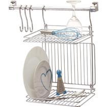Organizador suspenso para utensílios com escorredor de pratos