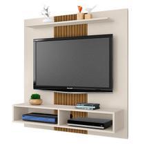 Painel Para TV Até 47 Polegadas Gama Bechara - Off-White/Ripado