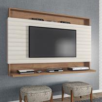 Painel para TV até 50 Polegadas 136 Cm Ripado Sala Quarto Madri 3D Canelato Off White - ClickLar