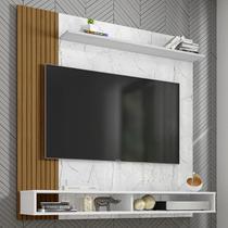 Painel Para Tv Até 55 Polegadas Oslo 1 Prateleira Carrara/branco/ripado  Bechara