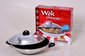 Panela wok chinesa com revestimento antiaderente interno (7010)