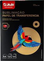Papel Sublimático JOJO Fundo Rosa 100g - Pacote C/100 Folhas A4