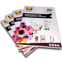 Papel Sublimático Mix Color Fundo Rosa - Pacote C/100 Folhas A3