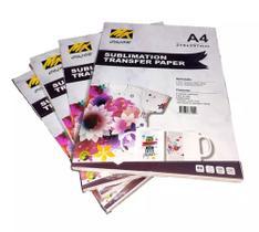 Papel Sublimático Mix Color Fundo Rosa - Pacote C/100 Folhas A4