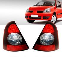 Par Lanterna Traseira Renault Clio Hatch 2003 a 2010 Fumê