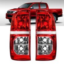 Par Lanterna Traseira Toyota Hilux 2012 a 2015 Bicolor