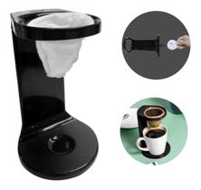 Passador De Café Individual C/ Coador My Coffee Preto Ou