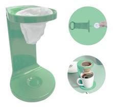 Passador De Café Individual C/ Coador My Coffee Verde Ou