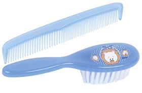 Pente e escova para crianças linha filhotes - petita - azul