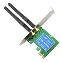Placa de Rede Wifi PCI Express X1 2 Antenas 300mb/s Com Perfil Baixo Feasso FPR-300M