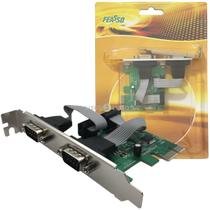 Placa Pci Express X1 Multiserial Com 2 Seriais E Low Profile