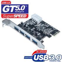 Placa USB 3.0 4 portas dex dp-43 PCI-Express