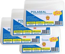 Plástico para Plastificação Polaseal Tamanho 66X99mm 125 Mícron Pacote com 100 Plásticos