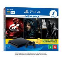 Playstation 4 1TB  PS4 Slim 1 Controle Sony com 3 Jogos - Plus 3 Meses