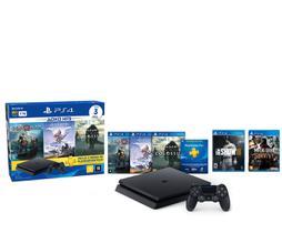 Playstation 4 Slim 1TB Hits Bundle 4ª Geração + 5 Jogos + Controle Dualshock 4 Preto - PS4