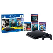 PlayStation 4 Slim 1TB Mega Pack 18 PS Plus 3 Meses+God Of War+Ratchet and Clank+Ghost of Tsushima+Until Dawn
