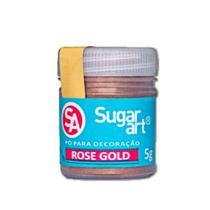 Pó/ decoração sugar Art Rose Gold 5g