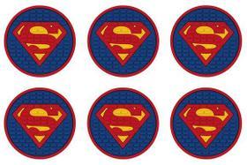 Porta Copos Superman Jogo com 6 unidades azul
