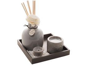 Porta Incenso Cerâmica Madeira e Bambu 4593