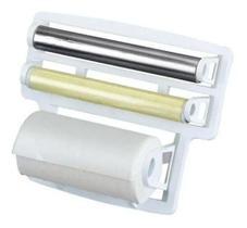 Porta Rolo Suporte Para Papel Toalha Aluminio Pratico Triplo - Contacta